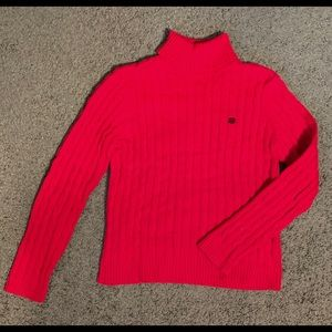 Red Long Sleeve Chaps Sweater